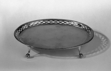 Hester Bateman (English, active in London, 1774-1789). Tray, ca. 1780-1781. Silver, 6 1/2 x 5 1/4 in. (16.5 x 13.3 cm). Brooklyn Museum, Gift of Mr. and Mrs. Frederick B. Hicks, 64.152.22. Creative Commons-BY