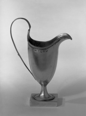Hester Bateman (English, active in London, 1774-1789). Pitcher, ca. 1787-1788. Silver, 6 1/2 x 1 in. (16.5 x 2.5 cm). Brooklyn Museum, Gift of Mr. and Mrs. Frederick B. Hicks, 64.152.25. Creative Commons-BY