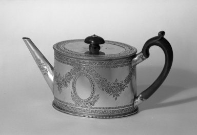 Hester Bateman (English, active in London, 1774-1789). Teapot, ca. 1781 -1782. Silver, 5 x 9 1/2 in. (12.7 x 24.1 cm). Brooklyn Museum, Gift of Mr. and Mrs. Frederick B. Hicks, 64.152.29. Creative Commons-BY