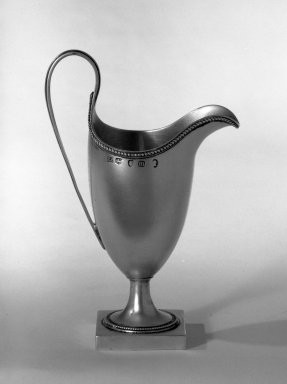 Hester Bateman (English, active in London, 1774-1789). Creamer, ca. 1787-1788. Silver, 6 x 1 7/8 x 1 7/8 in. (15.2 x 4.8 x 4.8 cm). Brooklyn Museum, Gift of Mr. and Mrs. Frederick B. Hicks, 64.152.34. Creative Commons-BY