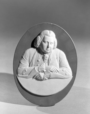 Wedgwood (founded 1759). Portrait Medallion, ca. 1790. Jasperware, 5 1/8 x 4 in. (13 x 10.2 cm). Brooklyn Museum, Gift of the Estate of Emily Winthrop Miles, 64.195.54