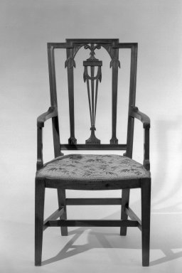 American. Armchair, One of Pair, ca. 1880. Mahogany, 41 x 22 1/2 x 19 1/2 in. (104.1 x 57.2 x 49.5 cm). Brooklyn Museum, Gift of Mrs. Anthony Tamburro in memory of her mother, Grace Hunter Biddle, 64.205.5. Creative Commons-BY
