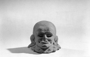 Maya. Head. Ceramic, 3 x 2 1/2 x 2 3/8 in. (7.6 x 6.4 x 6 cm). Brooklyn Museum, Carll H. de Silver Fund, 64.213.2. Creative Commons-BY