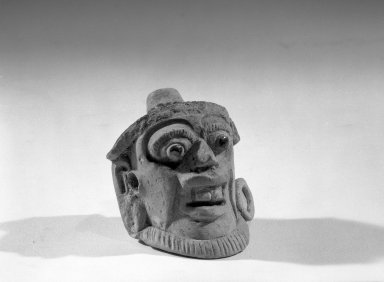 Maya. Head. Ceramic, 2 1/8 x 2 1/2 x 3 1/4 in. (5.4 x 6.4 x 8.3 cm). Brooklyn Museum, Carll H. de Silver Fund, 64.213.3. Creative Commons-BY