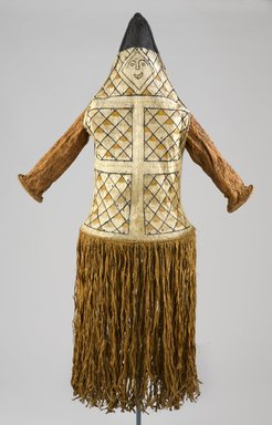 Pamí'wa, also known as Cubeo. Anthropomorphic Mask, 20th century. Bark cloth, wood, pigments, 59 x 20 x 15 in. (149.9 x 50.8 x 38.1 cm). Brooklyn Museum, A. Augustus Healy Fund, 64.214.61. Creative Commons-BY