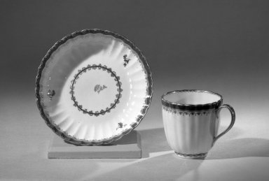 Coffee Cups and Saucers, One of Set                             Blue/gold trim, ca. 1795-1796. Porcelain, Other (cup): 2 1/2 x 2 5/8 in. (6.4 x 6.7 cm). Brooklyn Museum, Anonymous gift, 64.241.51. Creative Commons-BY