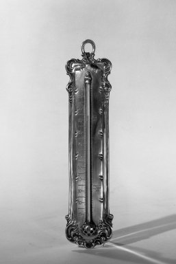Tiffany & Company (American, founded 1853). Thermometer, ca. 1900. Silver, glass, mercury, 9 1/4 x 2 1/8 in. (23.5 x 5.4 cm). Brooklyn Museum, Anonymous gift, 64.241.85. Creative Commons-BY