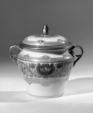 Sevres Porcelain Factory. Sugar Bowl with Cover, ca. 1846. Porcelain, 4 5/8 x 3 3/4 in. (11.7 x 9.5 cm). Brooklyn Museum, Anonymous gift, 64.241.88a-b. Creative Commons-BY