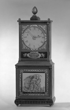 American. Clock, ca. 1820. Carved and gilded maple, 34 x 11 in. (86.4 x 27.9 cm). Brooklyn Museum, Gift of Sidney W. Davidson, 64.242. Creative Commons-BY