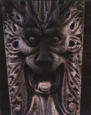 A. Lund Company. Greenman Keystone, from 2222 South Wabash Avenue, Chicago (demolished circa 1964), 1896. Limestone  , 50 x 22 x 16 in., 689 lb. (127 x 55.9 x 40.6 cm, 312.53kg). Brooklyn Museum, Gift of Anonymous Arts Recovery Society, 64.258. Creative Commons-BY