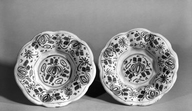 Plates, ca. 1650. Delft, 1 3/4 x 8 1/2 in. (4.4 x 21.6 cm). Brooklyn Museum, Purchased with funds given by anonymous donors, 64.46.1a-b. Creative Commons-BY