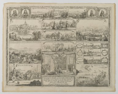 I. Sorious (Dutch, 1655-1676). Events in the Netherlands from 1673 - 1674, 17th century. Etching on paper, sheet: 17 3/4 x 22 1/4 in. (45.1 x 56.5 cm). Brooklyn Museum, 64.47.2