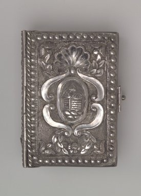 Hebrew Prayer Book with Silver Cover, 18th century. Silver, 6 3/4 x 4 3/4 x 1 3/8 in. (17.1 x 12.1 x 3.5 cm). Brooklyn Museum, Gift of Mrs. Morris Friedsam, 64.78.1. Creative Commons-BY