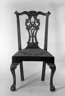 Gilbert Ash. Side Chair, ca.1765. Mahogany, 39 1/2 x 23 x 21 in. (100.3 x 58.4 x 53.3 cm). Brooklyn Museum, Bequest of H. Randolph Lever, 64.80.3a. Creative Commons-BY
