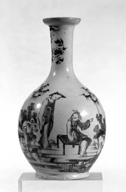 Vase, ca. 1760. Lambeth Delft, 9 1/4 in. (23.5 cm). Brooklyn Museum, Bequest of H. Randolph Lever, 64.80.52. Creative Commons-BY