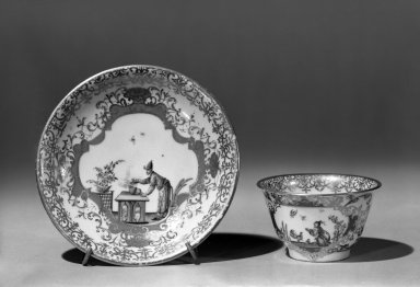 Meissen Cup and Saucer, ca. 1750. Porcelain, cup: 1 7/8 x 3 in. (4.8 x 7.6 cm). Brooklyn Museum, Gift of the Estate of Emily Winthrop Miles, 64.82.134a-b. Creative Commons-BY