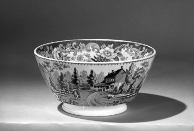 Waste Bowl, ca. 1840. Glazed earthenware, 3 1/8 x 6 1/2 in. (7.9 x 16.5 cm). Brooklyn Museum, Gift of the Estate of Emily Winthrop Miles, 64.82.201. Creative Commons-BY