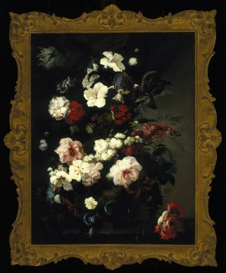 Mary Moser (English, 1744-1819). Flowers, Still Life (Jardiniere of Flowers), ca. 1780. Oil on canvas, 34 x 26 1/4 in.  (86.4 x 66.7 cm). Brooklyn Museum, Gift of Mr. and Mrs. Daniel L. Silberberg, 64.92.5