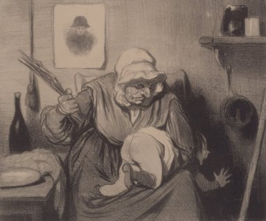 Honoré Daumier (French, 1808-1879). Le Toucher, September 13, 1839. Lithograph on heavy wove paper, Sheet: 9 7/8 x 14 in. (25.1 x 35.6 cm). Brooklyn Museum, Gift of the Estate of Emily Winthrop Miles, 64.98.298