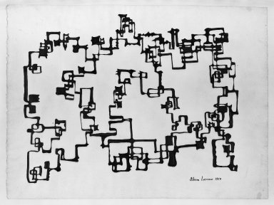 Ibram Lassaw (American, born Egypt, 1913-2003). Drawing, 1958. Ink on paper, 19 x 25 in. (48.3 x 63.5 cm). Brooklyn Museum, Gift of the Aaron E. Norman Fund, Inc., 64.99.1. © Estate of Ibram Lassaw