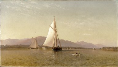 Francis Augustus Silva (American, 1835-1886). The Hudson at the Tappan Zee, 1876. Oil on canvas, 24 x 42 3/16 in. (61 x 107.1 cm). Brooklyn Museum, Dick S. Ramsay Fund, 65.10