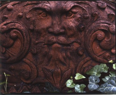 Pilaster Capital with Bearded Greenman, from an unidentified building on Worth Street, between Church and Broadway, NYC (demolished 1961), 1900. Terra cotta, 20 x 34 1/2 x 13 in. (50.8 x 87.6 x 33 cm). Brooklyn Museum, Gift of Anonymous Arts Recovery Society, 65.127.6. Creative Commons-BY