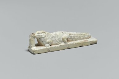 Crocodile Figure, 332 B.C.E. - 395 C.E. Faience, 3/4 x 11/16 x 2 5/8 in. (1.9 x 1.7 x 6.7 cm). Brooklyn Museum, Charles Edwin Wilbour Fund, 65.134.1. Creative Commons-BY