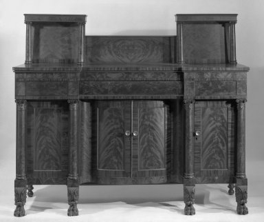 Sideboard, ca. 1820. Mahogany, 61 3/4 x 73 1/4 in. (156.8 x 186.1 cm). Brooklyn Museum, Gift of Mr. and Mrs. H. Stewart Peyton, 65.140. Creative Commons-BY