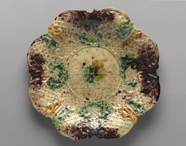 American. Plate, ca. 1770. Glazed earthenware, 7/8 x 9 7/8 in. (2.2 x 25.1 cm). Brooklyn Museum, H. Randolph Lever Fund, 65.144.4. Creative Commons-BY