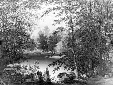 Thomas Addison Richards (American, 1820-1900). On Claverack Creek near Hudson, New York, 1846. Oil on canvas, 18 1/16 x 24 1/8 in. (45.9 x 61.3 cm). Brooklyn Museum, Gift of Dr. Katherine K. Merritt, 65.148