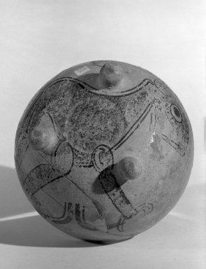 Maya. Tripod Bowl, C.E. 600-900. Clay, pigment, 3 15/16 x 5 1/2 in.  (10 x 14 cm). Brooklyn Museum, Gift of Teochita,  Inc., 65.18. Creative Commons-BY