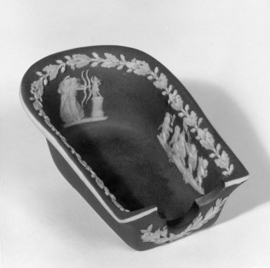 Wedgwood (1759-present). Ashtray or Pipe Holder, ca. 1907. Jasperware, 2 1/8 x 3 1/2 in. (5.4 x 8.9 cm). Brooklyn Museum, Gift of Dr. and Mrs. William R. Liberman in honor of Mrs. George Liberman, 65.200.2. Creative Commons-BY