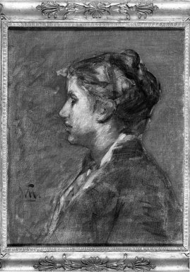William Morris Hunt (American, 1824-1879). A Young Woman. Oil on canvas, 19 15/16 x 16 1/16 in. (50.7 x 40.8 cm). Brooklyn Museum, Gift of Daniel and Rita Fraad, Jr., 65.204.5