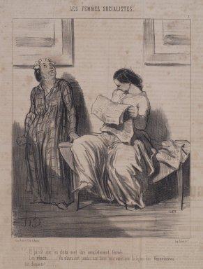 Honoré Daumier (French, 1808-1879). Il Parait que les Clubs Vont Être Complètement Fermés..., April 25, 1849. Lithograph on newsprint, Sheet: 11 7/8 x 8 15/16 in. (30.2 x 22.7 cm). Brooklyn Museum, Gift of Sydel Solomon, 65.265.10