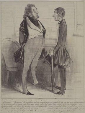 Honoré Daumier (French, 1808-1879). Monsieur Bertrand, La Confiance De Mes Concitoyens..., April 22, 1838. Lithograph on newsprint, Sheet: 11 1/2 x 8 11/16 in. (29.2 x 22.1 cm). Brooklyn Museum, Gift of Sydel Solomon, 65.265.13