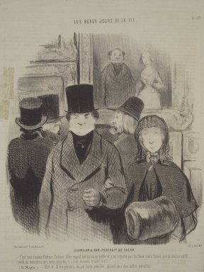 Brooklyn Museum: When One's Portrait Is Exhibited at the Salon (Quand on a son portrait au salon)