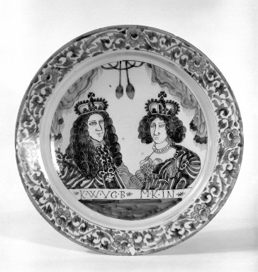 Plate, ca.1690. Glazed earthenware, 13 3/8 in. (34 cm). Brooklyn Museum, Museum Collection Fund, 65.4.1. Creative Commons-BY