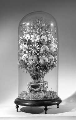 Shell Flower Arrangement, Latter half of 19th century. Shell, glass, wood, gesso, 27 1/2 x 13 in. (69.9 x 33 cm). Brooklyn Museum, Gift of Mitzi Pereyra in memory of Mary Sequin, 65.48. Creative Commons-BY