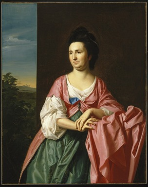 John Singleton Copley (American, 1738-1815). Mrs. Sylvester (Abigail Pickman) Gardiner, ca. 1772. Oil on canvas, 50 3/8 x 40 in. (128 x 101.6 cm). Brooklyn Museum, Dick S. Ramsay Fund, 65.60