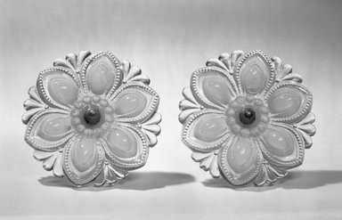 American. Curtain Tie-back, One of Pair, ca.1850. Glass, metal, 4 1/2 in. (11.4 cm). Brooklyn Museum, Dick S. Ramsay Fund, 65.6.1a-b. Creative Commons-BY