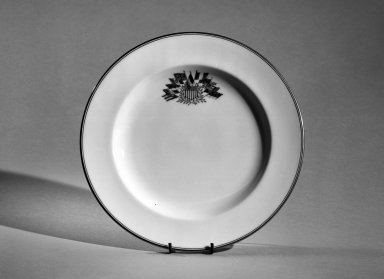 Wedgwood (founded 1759). Plate, Early 19th century. Bone china, gold rim, 7/8 x 8 13/16 in. (2.2 x 22.4 cm). Brooklyn Museum, Anonymous gift, 66.111.2. Creative Commons-BY