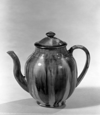 Ovoid-Shaped Teapot with Cover, ca. 1780. Earthenware or stoneware, 6 in. (15.2 cm). Brooklyn Museum, H. Randolph Lever Fund, 66.117. Creative Commons-BY