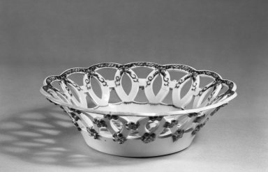 Worchester, Dr. Wall Period. Basket, ca.1770. White porcelain, 8 9/16 in. (21.7 cm). Brooklyn Museum, H. Randolph Lever Fund, 66.118.1. Creative Commons-BY