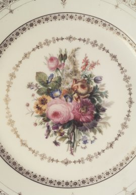 Sevres. Plate, ca. 1845 - 1846. Porcelain, 9 in. (22.9 cm). Brooklyn Museum, Anonymous gift, 66.177.10q. Creative Commons-BY