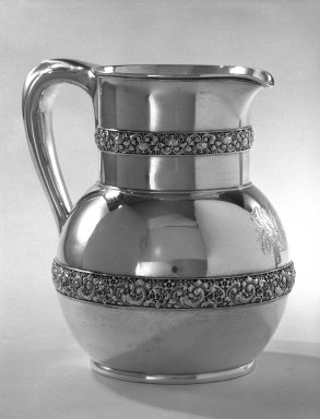 American. Pitcher, ca. 1879. Silver, 8 1/2 x 6 1/2 in. (21.6 x 16.5 cm). Brooklyn Museum, Anonymous gift, 66.177.30. Creative Commons-BY