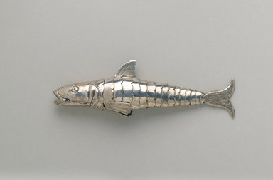 Box in Form of Fish, late 19th century. Silver, 1 7/8 x 5 3/8 x 7/8 in. (4.8 x 13.7 x 2.2 cm). Brooklyn Museum, Anonymous gift, 66.177.42. Creative Commons-BY