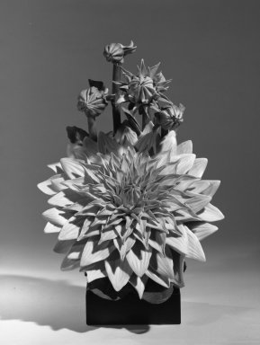 Cybis Porcelains. Figure of Dahlia, ca. 1940. Porcelain, wood base, 12 1/4 x 8 x 6 1/4 in. (31.1 x 20.3 x 15.9 cm). Brooklyn Museum, Gift of Burton Richard Wolf, 66.180. Creative Commons-BY