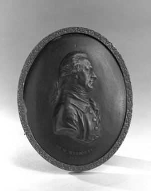Brooklyn Museum: Oval Portrait Medallion of Dr. W. Herschel