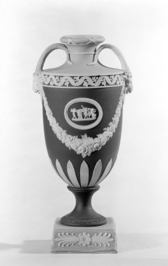 Wedgwood (founded 1759). Urn with Cover Missing, 1830. Jasperware, 10 x 4 in. (25.4 x 10.2 cm). Brooklyn Museum, Gift of the Bess and Sam Zeigen Family, 66.229.5. Creative Commons-BY