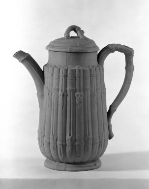 Wedgwood (1759-present). Coffee Pot with Cover, ca. 1860. Drabware, 9 3/4 x 4 in. (24.8 x 10.2 cm). Brooklyn Museum, Gift of the Bess and Sam Zeigen Family, 66.229.7a-b. Creative Commons-BY
